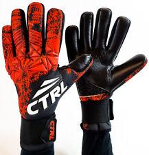 CTRL PRO Contact Foam Negative Cut Soccer Goalkeeper Goalie Gloves Black Red 8