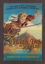 AUTOGRAPHED VG 2006 HC DJ First ED Peter Pan in Scarlet Geraldine McCaughrean