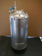 Gelman Filtration Stainless Steel Pressure Vessel 19 Liters 5 Gallons no. 15203