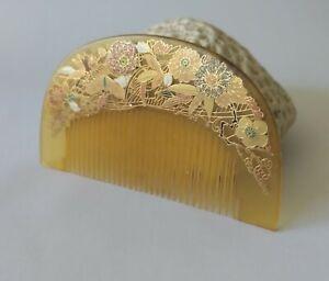 Antique Japanese Hair Comb Kushi Kanzashi Showa Period Hair Comb