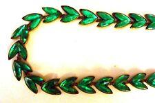 Glass Necklace - Czech. Beautiful 1920/30's Emerald Green Vauxhall