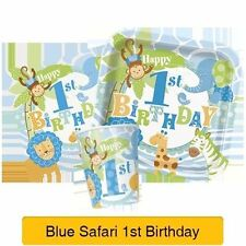 Décorations de fête serviettes bleu anniversaires-enfants pour la maison