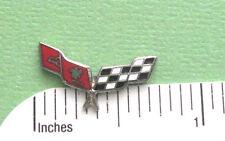 CORVETTE FLAGS  - Hat pin , lapel pin , tie tac . hatpin GIFT BOXED cloisonne