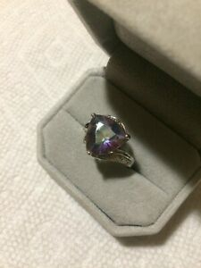 Vintage Sterling Ring Color Change Alexandrite