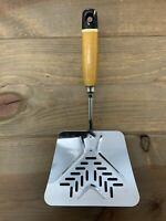 Vintage EKCO A&J Flipper Lifter Spatula Wood Handle Painted Black Tip USA