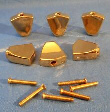 6 NEW GOLD KEYSTONE REPLACEMENT GUITAR MACHINE HEAD BUTTONS MIGHTY MITE