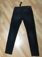 NWD Mens Diesel TROXER Stretch Denim R9F66 BLACK Slim W31 L30 H6 WORN LOOK