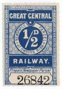 (I.B) Great Central Railway : Newspaper Parcel ½d
