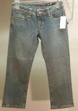NWT $49 Seven7 Women's Blue Denim Capri Jeans Size: 5 (EUR 27)