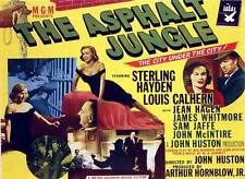 THE ASPHALT JUNGLE Movie POSTER 22x28 Half Sheet C Sterling Hayden Louis Calhern