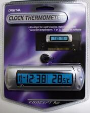 New CONCEPTS XT Digital LCD Clock & Thermometer for Car, Boat, 4x4. WA Seller.