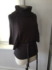 Nina Murati Roll Neck thick knit Jumper with waist tie. Size M/L (UK 12)