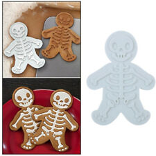 Gingerbread Man Cookie Mold Halloween Skull Stamp Sugar Baking Cutter Decor Tool