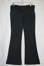 Lip Service Vintage Goth Pinstripe Skull Flare Jeans Size 7