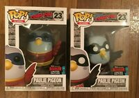 (Lot of 2) Funko Pop! NYCC New York Comic Con #23 Paulie Pigeon Black Red New