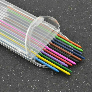 2 Set 2B 2mm Mechanical Pencil Refill 12 Colors Lead Refill School Stationery
