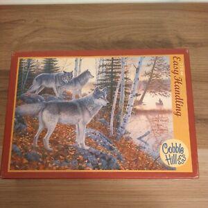 COBBLE HILL 275 Piece Jigsaw Puzzle Silent Travelers Wolves Random Pieces