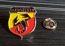 Abarth Pin Logo New Varnished 0 29/32x0 31/32in Original From Pin Set