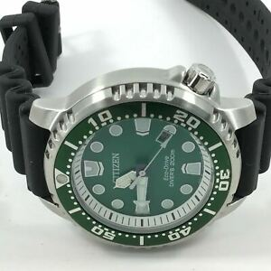 Citizen Men's Promaster Eco-Drive 200m Green Dial Watch BN0158-18X