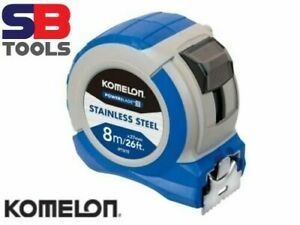 Komelon Stainless Steel PowerBlade Pocket Tape 8m/26ft (Width 27mm) IPT87E