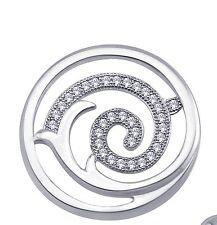 Silver Pave Set Cubic Zirconia Designer Beautiful Circle Pendant 925 Sterling
