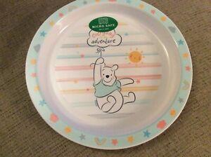 BNWT New Winnie the Pooh Plastic 21cm Plate - Reusable - Microwave Safe