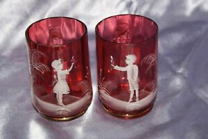 Red Glass Cups