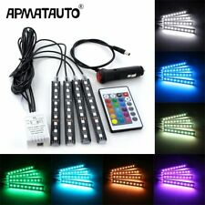 4pcs Car Rgb Led Strip Light Led Strip Lights Colors Car Styling Decorative A…