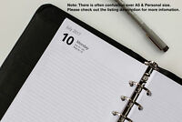 2019-2020 Personal Refills Week View Day per Page (Fits Filofax) START-ANY-MONTH