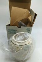 Rare PartyLite P7195 Spring Blossom Tealight Holder Bisque Porcelain Box NOS VTG