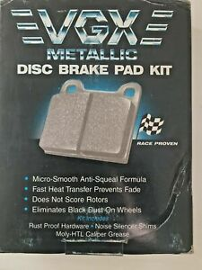 Metallic Front Disc Brake Pad Kit - For 1980s-90s Infiniti-Nissan- MF266K