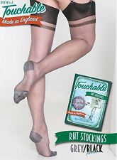 RHT Paris Stockings - Grey / Black Large by Touchable