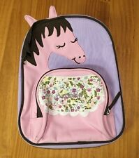 Amelia mono Pottery Barn Kids Lavender Horse My First Backpack Preschool pre-k