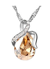 18k White Gold Plated Necklace made with Swarovski Elements (Gold)