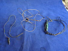A VERY FINE SOFT GIMP FISHING TACE AND 2 OTHER FINE PIKE FISHING LURE TRACES