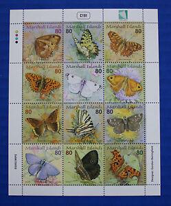 Marshall Islands (#798) 2002 Butterflies III MNH sheet