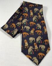 Circus Animals Necktie elephant tiger lion 417 Van Heusen neck tie