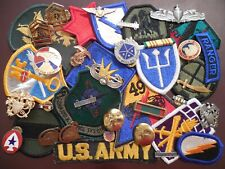 Junk Drawer Military Airborne US Army Crest Ribbon Rank USAF Patch Badge Pin LOT