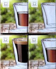 4 Doppelwandige Gläser Thermo Tassen Teetassen Kaffeetassen Latte Macchiato Glas