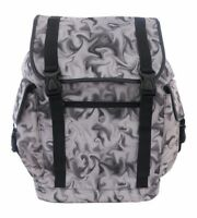 GREY SMOKE SMOKEY Laptop Backpack Rucksack School College Goth Emo Rock Punk Bag