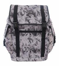 GREY SMOKE SMOKEY Laptop Backpack Rucksack School College Goth Emo Rock Punk Bag