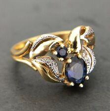 Zauberhafter Saphir & Diamant Ring aus 585 14K Gold