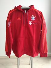 FC Bayern München Sweatshirt Jacke 2019/20 mit Sponsoren, Matchworn, Teamwear