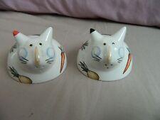 Vintage Villeroy Boch Animal Park A La Ferme Les Animaux cats Salt & Pepper pots