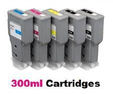 5 x Tinta para Canon iPF680 iPF685 iPF780 iPF785 / PFI-207 XXL Cartuchos 300ml