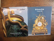 2 Catalogues de vente binoche collection Jacques Franck + Tableaux objets d'art