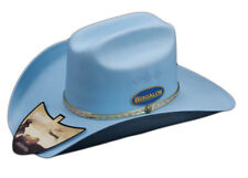 KIDS WESTERN STYLE RIGID COLOURED CHEYENNE HAT ONE SIZE FITS ALL BLUE