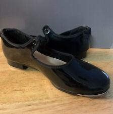CAPEZIO. Girls N625C Black Patent Tap Shoes. Size 3 M.