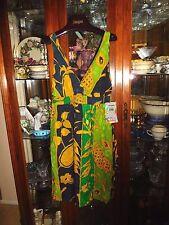 Jams World  Sundress NEW NWT Hawaiian SEXY DRESS PINEAPPLE PATCH L CRUISE 12 14