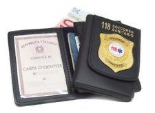 Portafoglio Vega Holster cuoio 1WD116 soccorso sanitario 118 Esculapio scudo